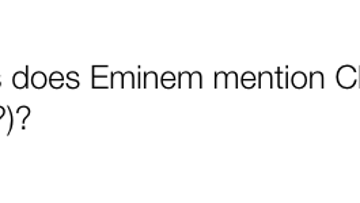 Eminem Has Been Fucking Up His Christopher Reeve Punchlines