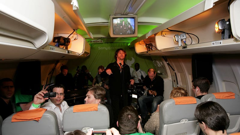 Could Jamiroquai be coming to a plane near you? Who knows! / Image via Getty