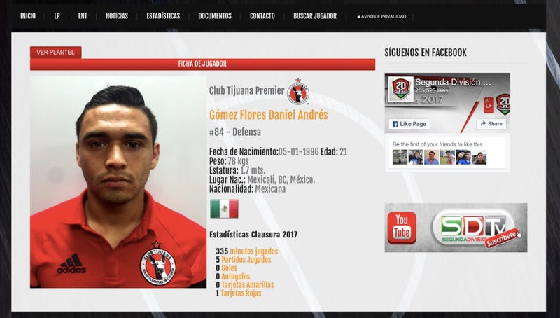 Illustration for article titled Pro Soccer Player From Tijuana Charged With Smuggling 48 Pounds Of Meth Into U.S.