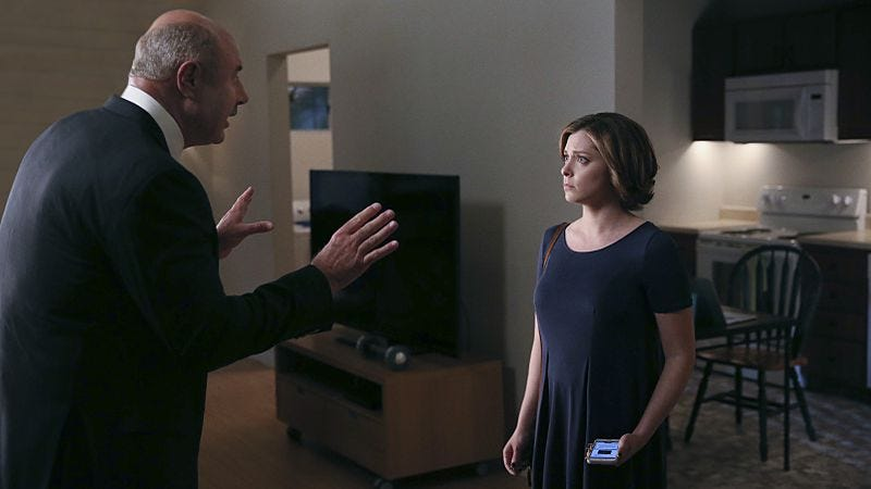 Dr. Phil, Rachel Bloom (Patrick Wymore/The CW)