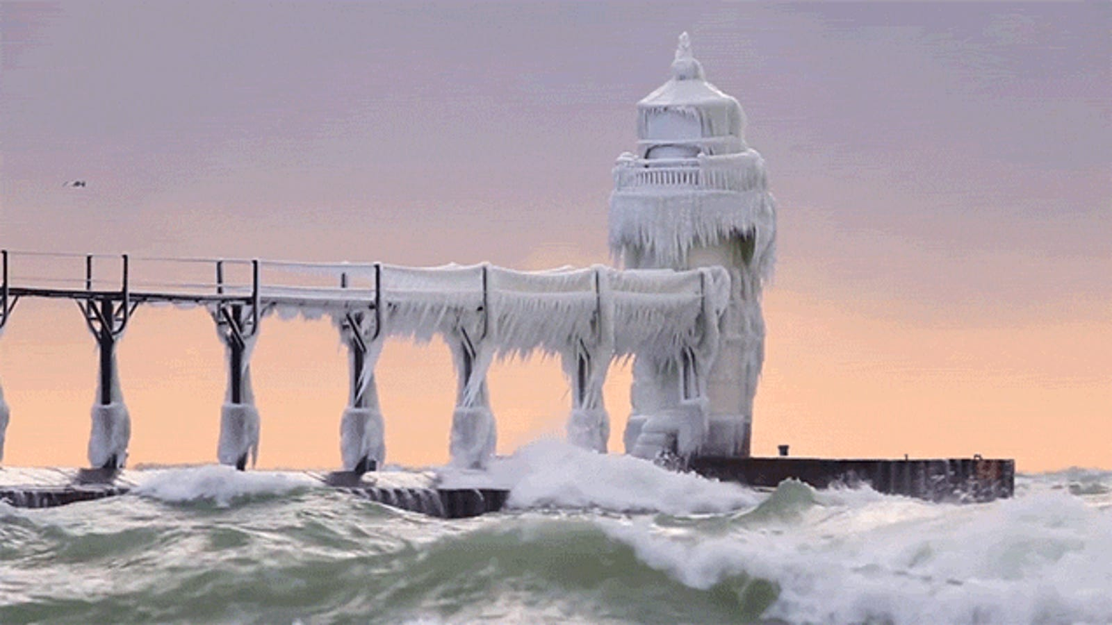 Wow, Look at This Lighthouse Completely Covered in Ice