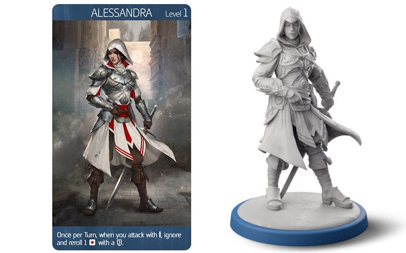 Illustration for article titled New Assassin's Creed Board Game Has Miniatures, A Campaign And An Ezio Cameo