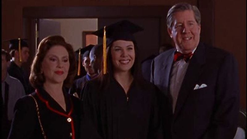 "Illustration for article titled Gilmore Girls: ""Lorelai's Graduation Day""/""I Can't Get Started"""