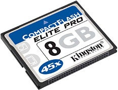 Illustration for article titled Kingston 8GB CompactFlash Elite Pro