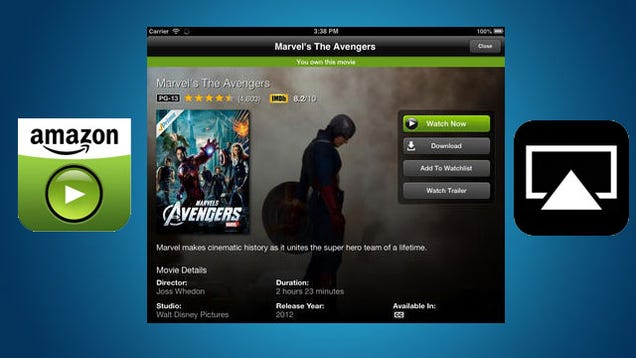 amazon instant video for ios updates with airplay. Black Bedroom Furniture Sets. Home Design Ideas