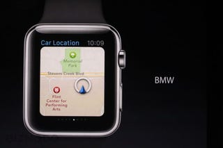 Illustration for article titled The Apple Watch Will Remember Where You Parked Your BMW