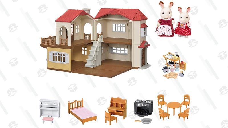 Calico Critters Red Roof Country Home Gift Set | $57 | Amazon