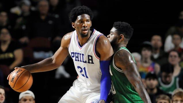 Joel Embiid Finally Made It Onto An NBA Court