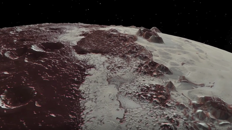 photo image Fly Over Pluto In This Incredibly Detailed New NASA Video