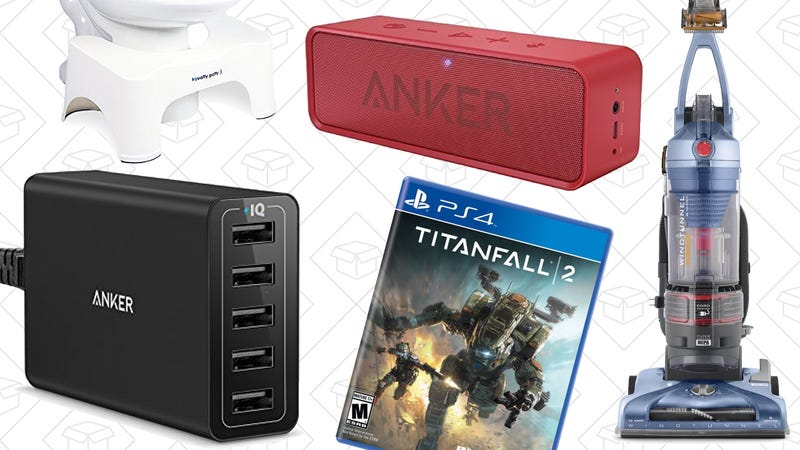 Illustration for article titled Today's Best Deals: Anker SoundCore, Squatty Potty, Titanfall 2, and More