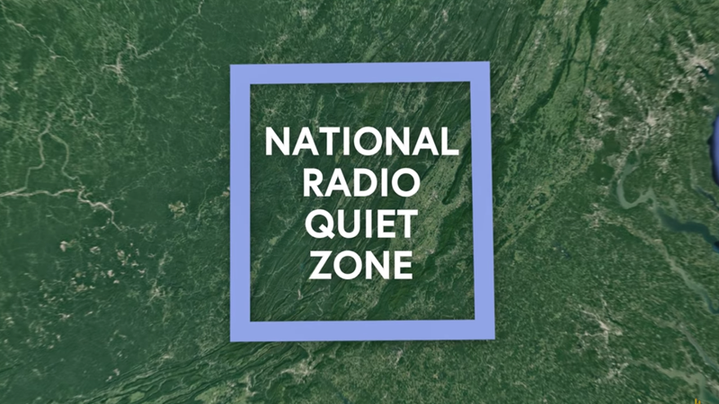 The National Radio Quiet Zone covers 13,000 square miles.