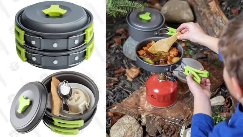 Utensilios de cocina para acampada   $16   AmazonGráfico: Shep McAllister