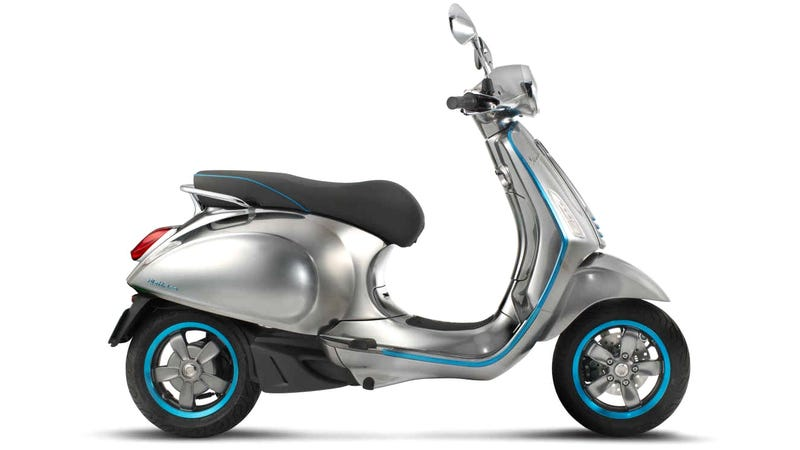 Illustration for article titled The Classic Vespa Scooter Is Finally Going Electric