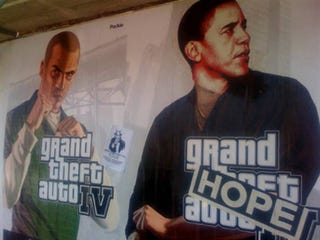 Illustration for article titled Barack/GTA IV Mashups Give Hope To LA