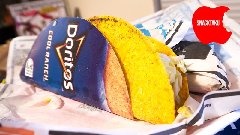 Illustration for article titled Taco Bell Cool Ranch Doritos Tacos: The Snacktaku Review