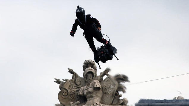 The French military is proud to unveil its very own hoverboard-riding, rifle-touting supervillain