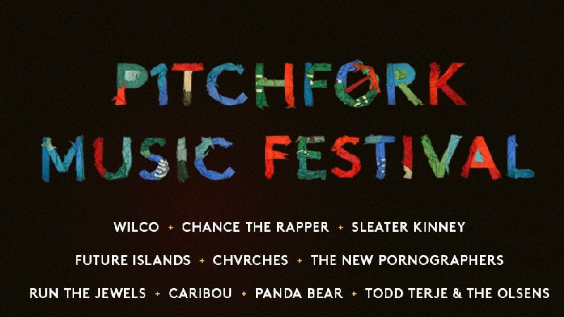 Illustration for article titled Wilco, Sleater-Kinney, and Chance The Rapper headline the 2015 Pitchfork Music Festival