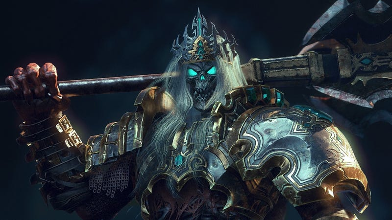 Illustration for article titled Diablo III's Skeleton King is Ready to Pound You Into the Floor