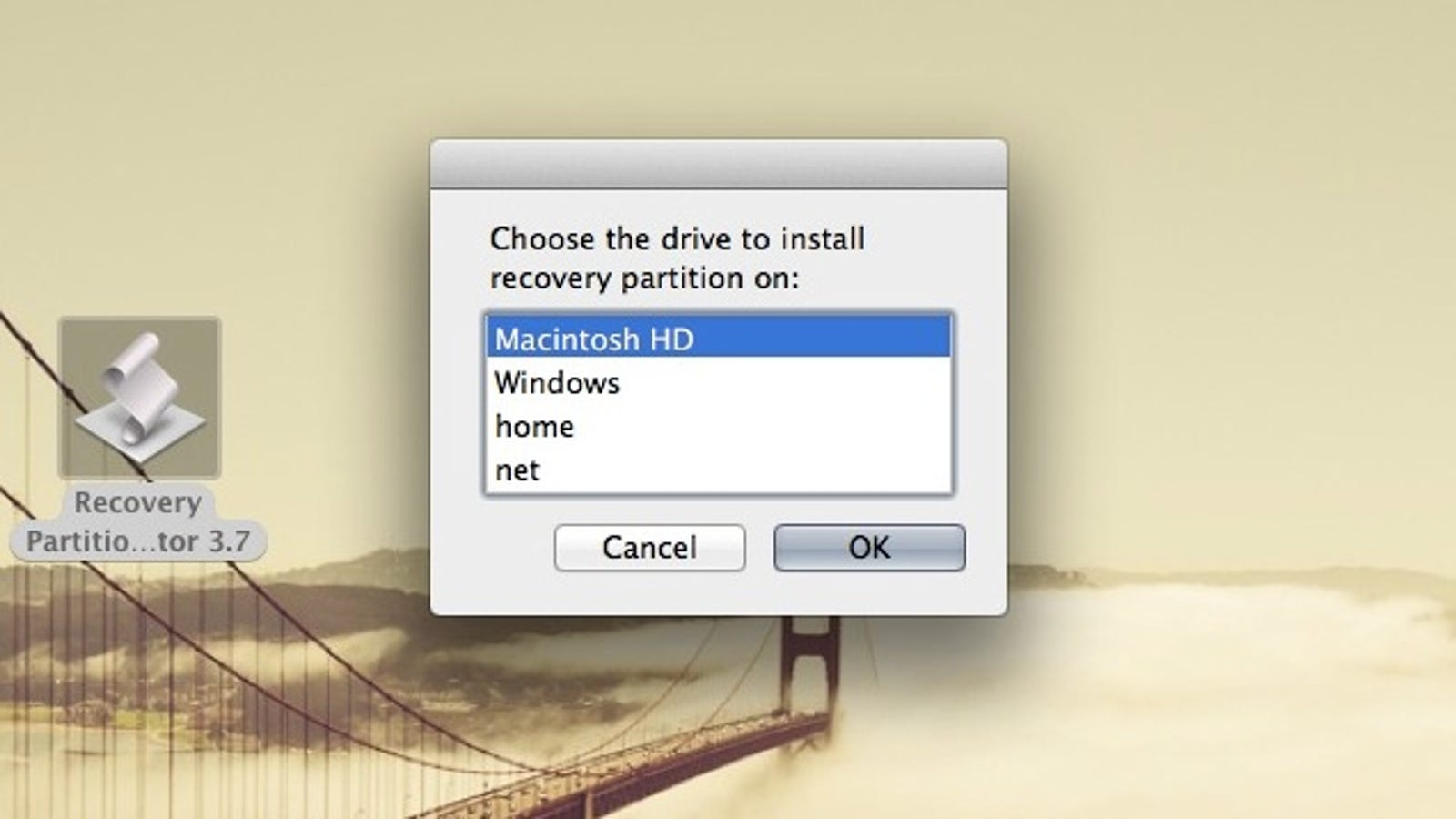 Re-Create OS X's Recovery Partition If You've Removed It