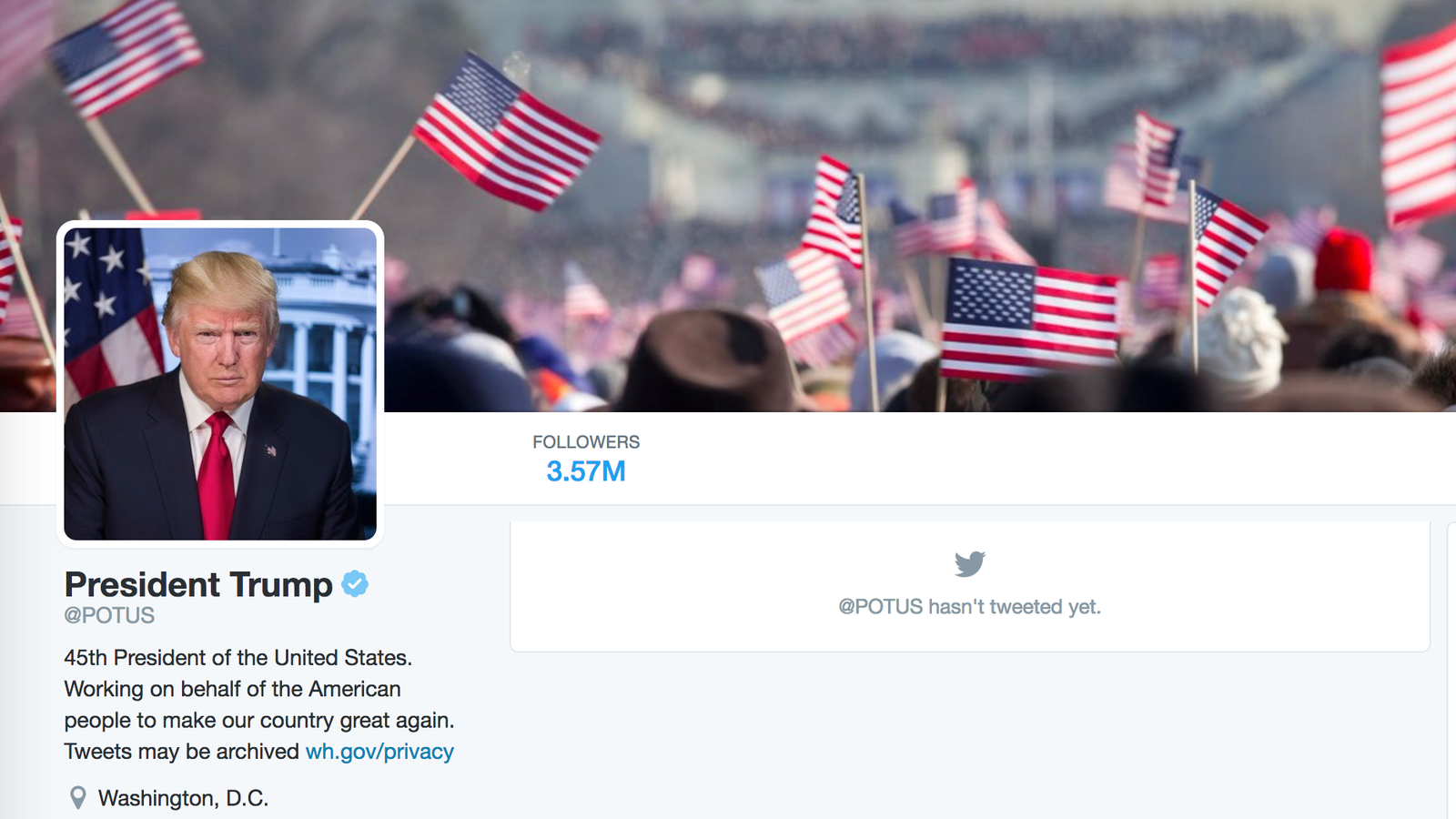 digital trumps first twitter background image potus obamas inauguration