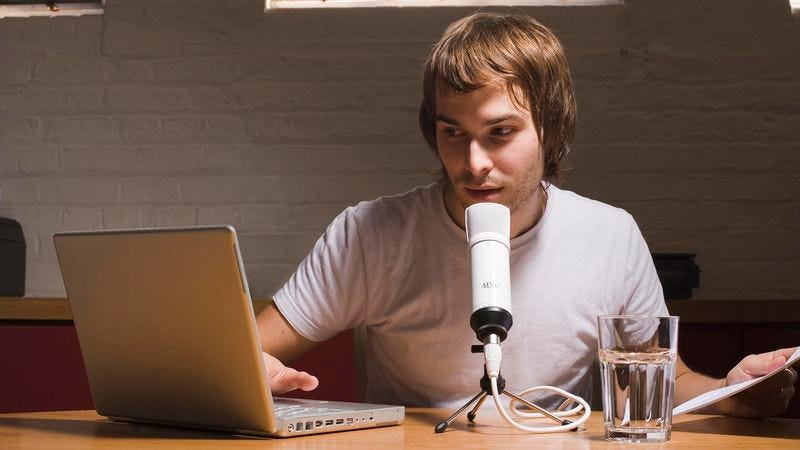 Illustration for article titled Podcaster Makes Solemn Promise To Improve Sound Quality Next Episode