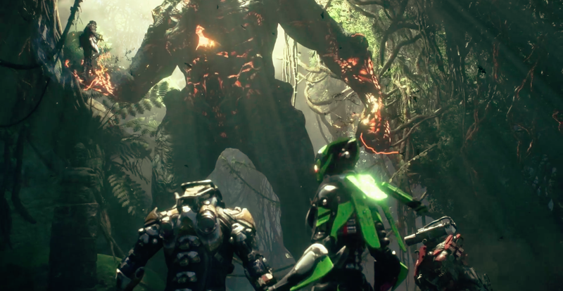 Above: A big baddie turns up in Anthem
