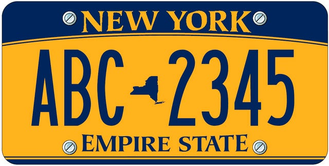 new empire gold new york license plates a car owner shakedown. Black Bedroom Furniture Sets. Home Design Ideas