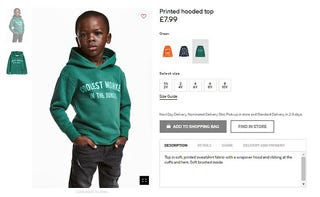 Original H&M advertisement (H&M.com via screenshot)