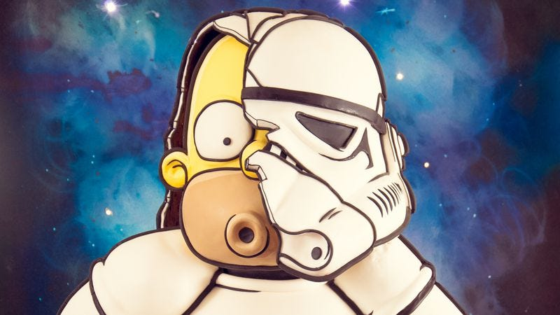 Illustration for article titled This stormtrooper Homer Simpson cake is groin-grabbingly transcendent
