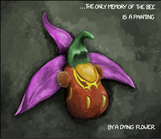Illustration for article titled ...by a dying flower....
