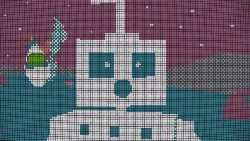 Illustration for article titled A Robot Love Story Built of a Thousand Rubik's Cubes