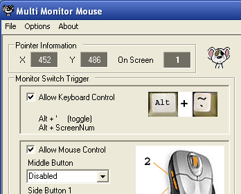 Illustration for article titled Multi-Monitor Mouse Snaps Your Cursor Around Multiple Screens