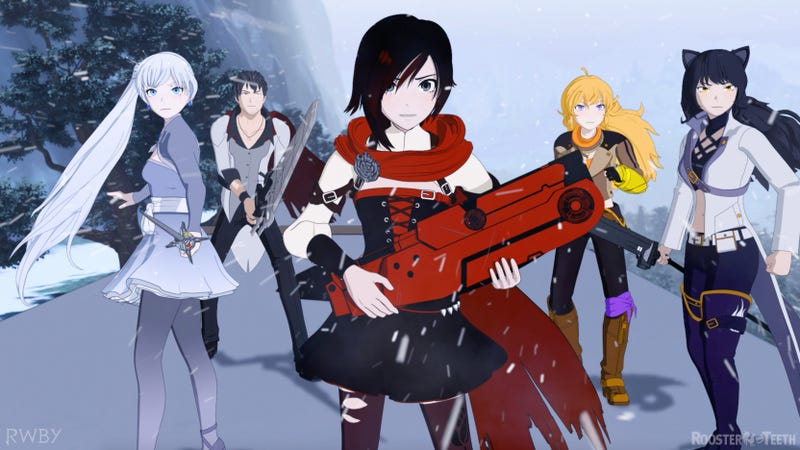 A scene from RWBY.