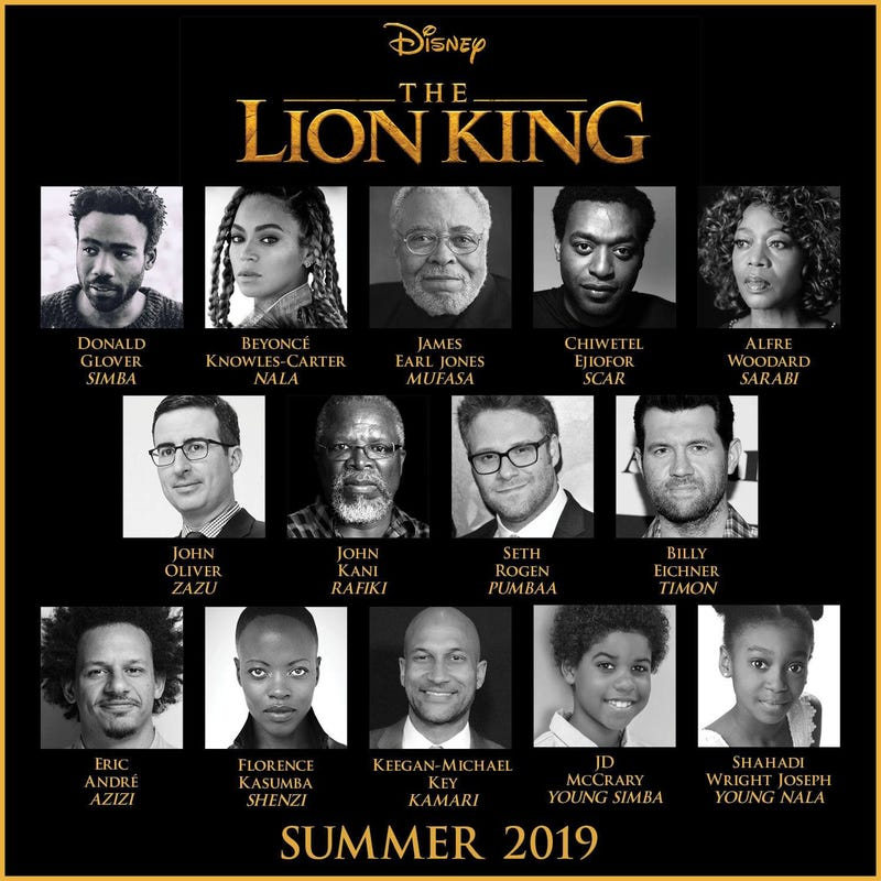 Pengisi Suara The Lion King (2019)