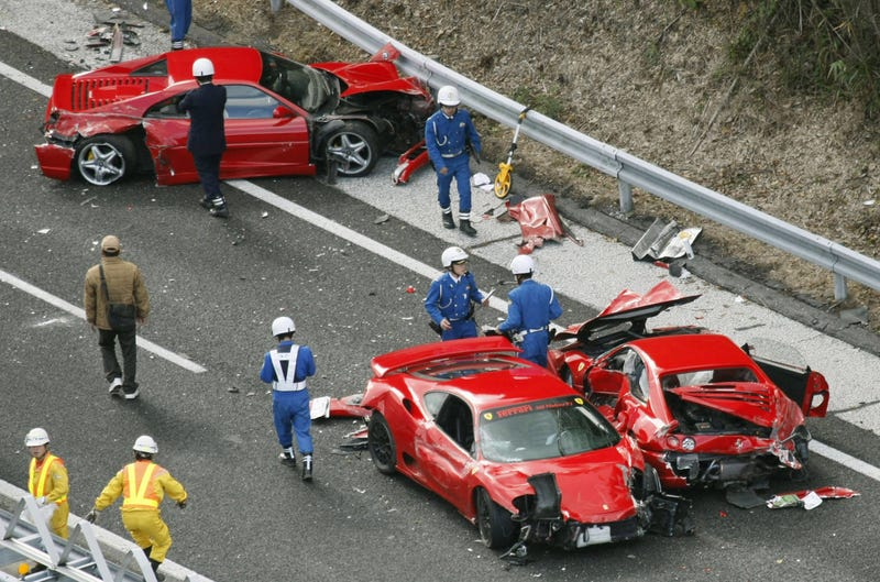 car crashes are something almost all of us would do anything to avoid but when youre in a wreck involving some of worlds most rare and valuable cars