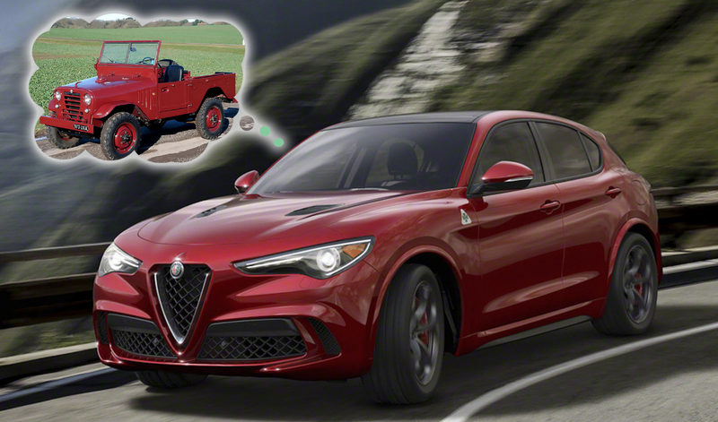 Illustration for article titled The Alfa Romeo Stelvio Is Here, So Americans Can Cross A Stream In An Alfa Without Drowning
