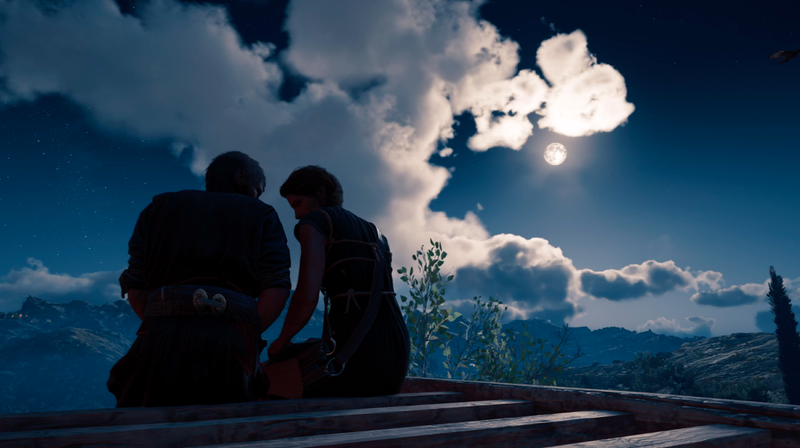 This scene no longer appears in Assassin's Creed Odyssey's expansion, if players make a specific non-romantic choice.