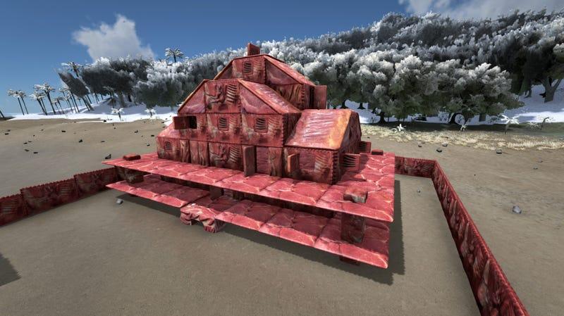 Ark survival evolved mod lets you make disgusting meat houses for Modern house ark