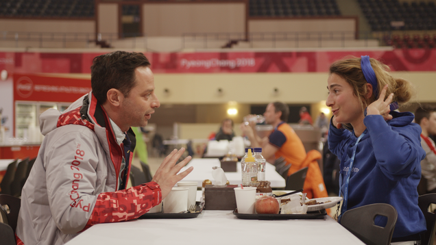 Being shot at the Olympics is about all the Nick Kroll romance Olympic Dreams has going for it