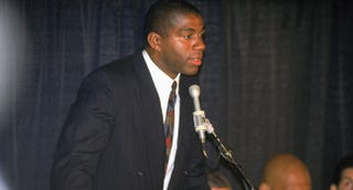 Illustration for article titled If Anyone In Sports Had To Get HIV, Magic Johnson Is Glad It Was Him