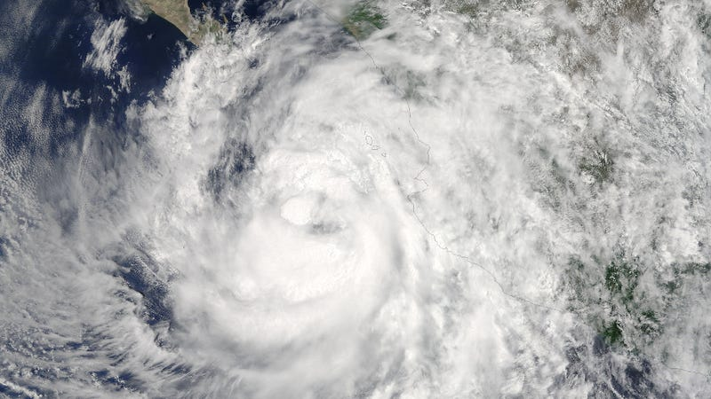 Newton as seen at 1:45 p.m. EDT on Monday, September 5 just as it was designated a Category 1 hurricane. (Image: NASA Goddard MODIS Rapid Response Team)
