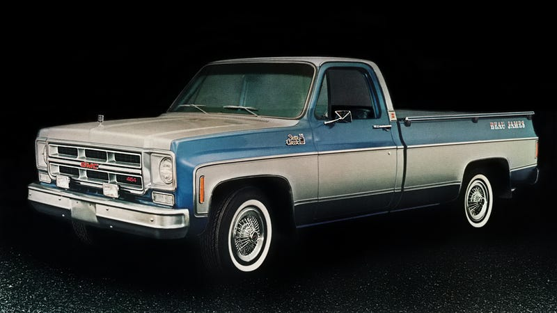 The Beau James had Pappy's eye, my grandfather and a die-hard GMC truck man, but he never bought one. His style was plainer Jane. I remember us passing a Beau James on the road once and Pappy commenting on what poor gas mileage they got: like 6 mpg or something. I'd have been nine or ten.