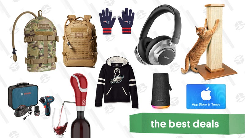 Illustration for article titled Thursday's Best Deals: Gift Cards, NFL Merch, Anker Headphones, and More