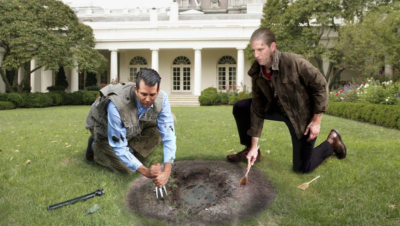 Illustration for article titled Trump Boys Attempting To Tunnel From South Lawn To FBI Headquarters To Free Paul Manafort From Custody