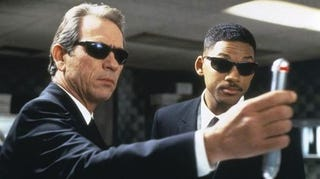 Illustration for article titled Is Men In Black 3 halfway through filming without a script?