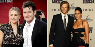 Charlie Sheen and Brooke Mueller (Frazer Harrison/Getty Images); Halle Berry and Gabriel Aubry (Stephen Lovekin/Getty Images)