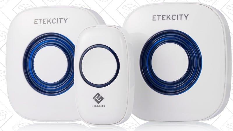 Etekcity Dual-Speaker Wireless Doorbell Kit, $18 with code M9UZ2Y4H