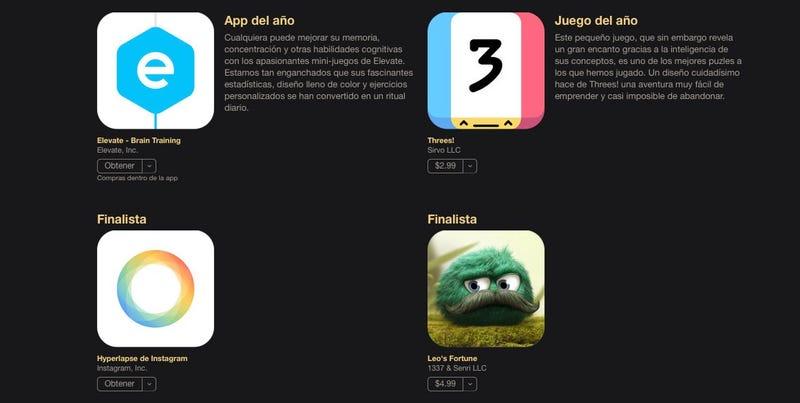 Illustration for article titled Las mejores aplicaciones y juegos del año en iOS, según Apple
