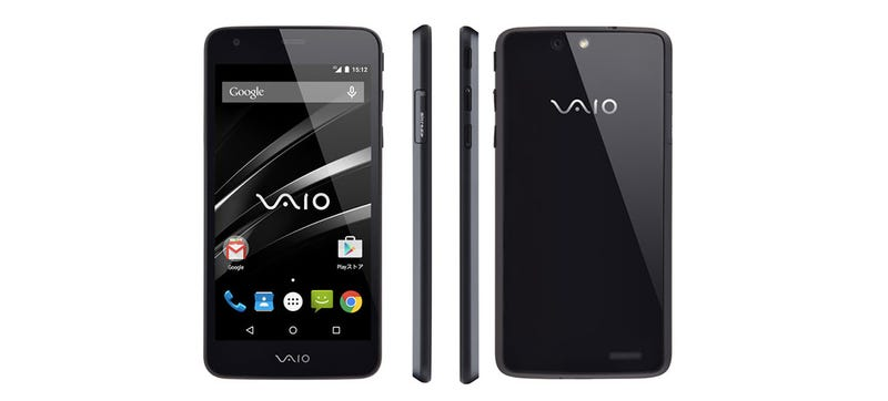 Illustration for article titled Vaio's First Smartphone is an MOR Black Slab