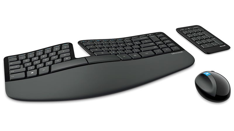 Illustration for article titled Microsoft's Sculpt Ergonomic Keyboard Is Easy on Wrists and Eyes Alike